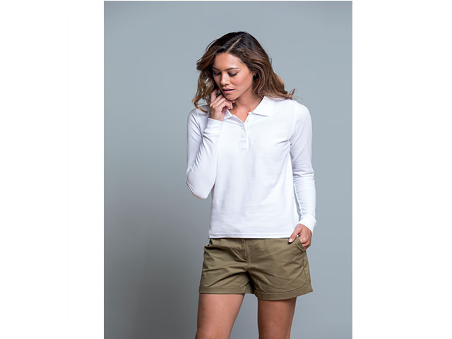 POLO M/L DONNA REGULAR - BIANCA